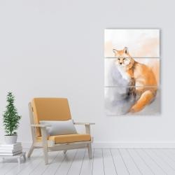 Canvas 24 x 36 - Watercolor fox