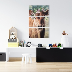Canvas 24 x 36 - Cute jersey cow