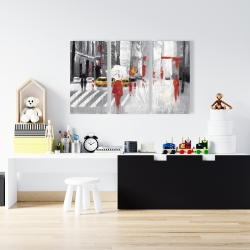 Canvas 24 x 36 - Abstract cloudy city street