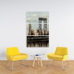 Canvas 24 x 36 - City bridge by a cloudy day