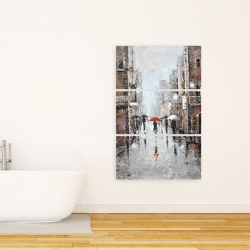 Canvas 24 x 36 - City rain