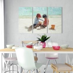 Canvas 24 x 36 - Little girls at the beach