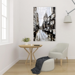 Canvas 24 x 36 - Busy gray street