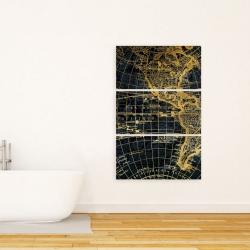 Canvas 24 x 36 - Blue and marine world map globe