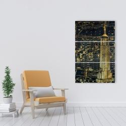 Canvas 24 x 36 - Gold city blue print