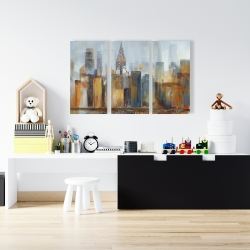 Canvas 24 x 36 - Cityscape with chrysler building