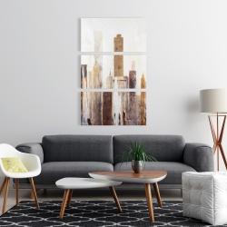 Canvas 24 x 36 - Abstract earthy tones city