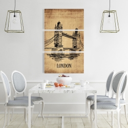 Canvas 24 x 36 - Tower bridge illustration