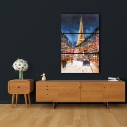 Canvas 24 x 36 - Illuminated paris