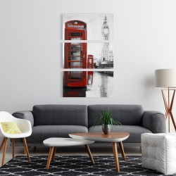 Canvas 24 x 36 - Red phonebooth with the big ben