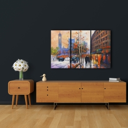 Canvas 24 x 36 - City by fall