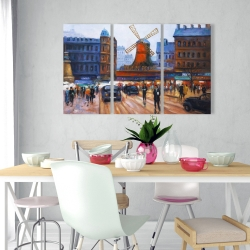 Canvas 24 x 36 - Street scene to moulin rouge
