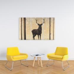 Canvas 24 x 36 - Roe deer in winter