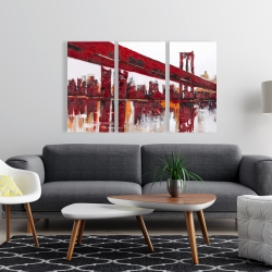 Canvas 24 x 36 - Red bridge