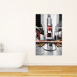 Canvas 24 x 36 - New york city busy street