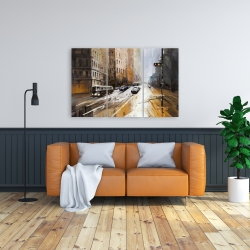 Canvas 24 x 36 - Abstract city street