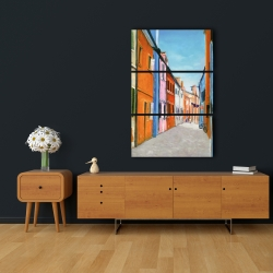 Canvas 24 x 36 - Colorful houses in italy