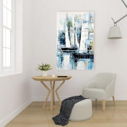 Canvas 24 x 36 - Industrial style boats