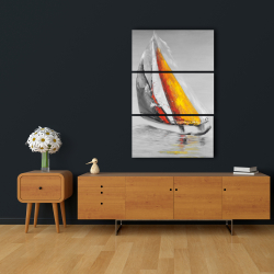 Canvas 24 x 36 - Two colors sailing boat