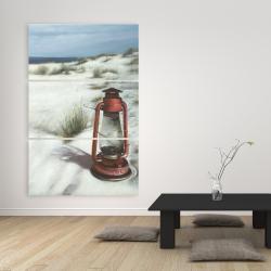 Canvas 40 x 60 - Lantern on the beach