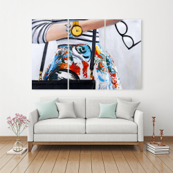 Canvas 40 x 60 - Fashionable woman with glasses