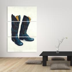 Canvas 40 x 60 - Leather cowboy boots