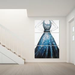 Canvas 40 x 60 - Blue princess dress