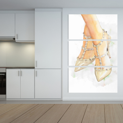 Canvas 40 x 60 - Studded high heels