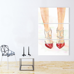 Canvas 40 x 60 - Red studded high heels
