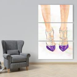 Canvas 40 x 60 - Purple studded high heels