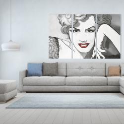 Canvas 40 x 60 - Vintage style marilyn monroe
