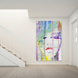 Canvas 40 x 60 - Abstract colorful portrait