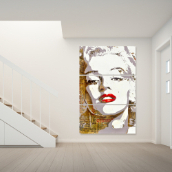 Canvas 40 x 60 - Marilyn monroe with typography