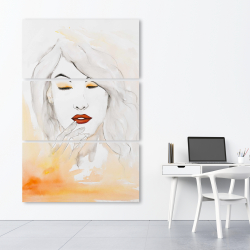 Canvas 40 x 60 - Portrait in watercolor