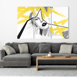 Canvas 40 x 60 - Woman with yellow line