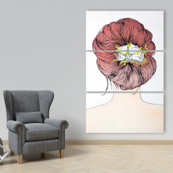 Canvas 40 x 60 - Lady with flowers in her hair