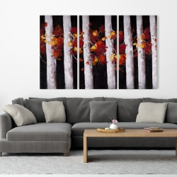 Canvas 40 x 60 - Trees and fall leaves