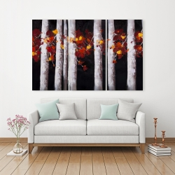 Canvas 40 x 60 - White trees with orange leaves
