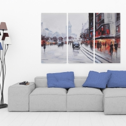 Canvas 40 x 60 - Street scene with cars