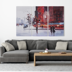 Canvas 40 x 60 - Black and red street scene