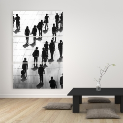 Canvas 40 x 60 - Silhouettes of people on the street