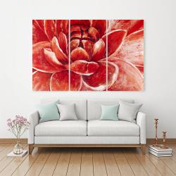 Canvas 40 x 60 - Red chrysanthemum