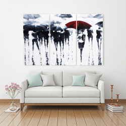 Canvas 40 x 60 - Abstract silhouettes under the rain