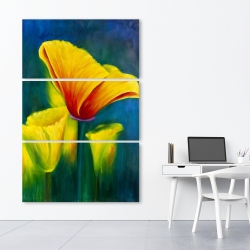 Canvas 40 x 60 - Beautiful colorful flowers