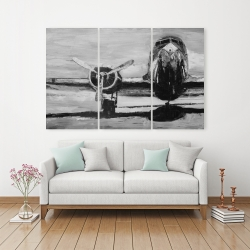 Canvas 40 x 60 - Grayscale plane