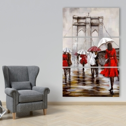 Canvas 40 x 60 - Walk on the brooklyn bridge