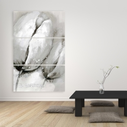 Canvas 40 x 60 - Tulips with typography