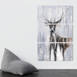 Canvas 40 x 60 - Winter abstract deer
