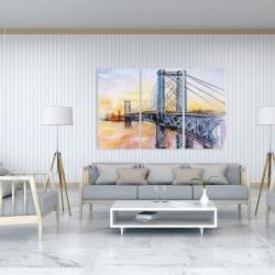 Canvas 40 x 60 - Abstract brooklyn bridge