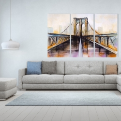 Canvas 40 x 60 - Colorful brooklyn bridge